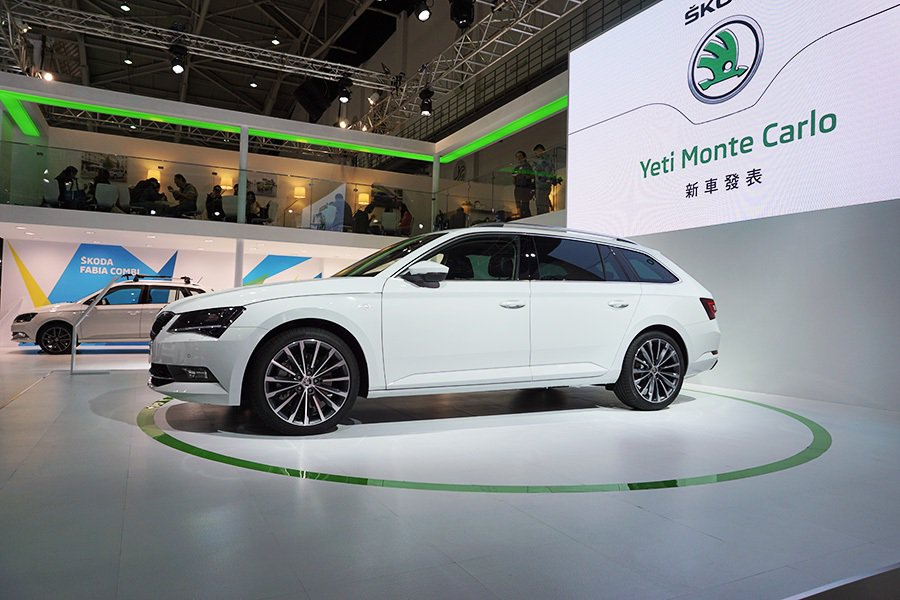 Škoda Taiwan此次新車大展比照國際車展規格。 記者敖啟恩/攝影