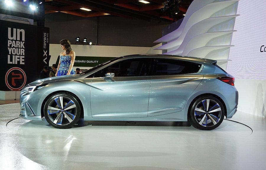 IMPREZA 5-Door Concept概念車。 記者敖啟恩/攝影