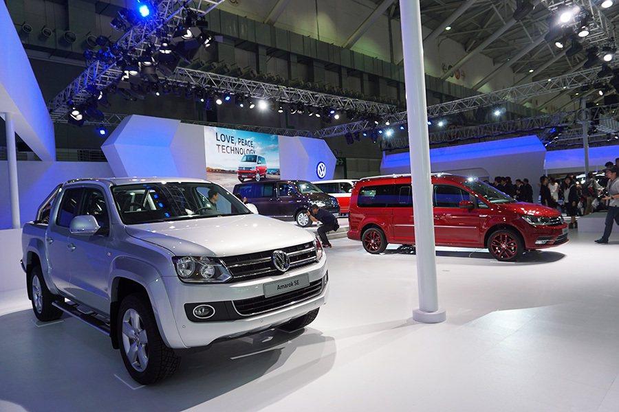 2016世界新車大展福斯商旅展區。 記者敖啟恩/攝影