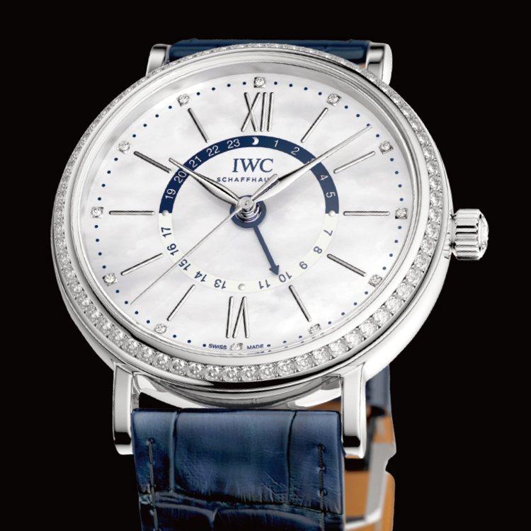 萬國錶全新柏濤菲諾中裝日夜顯示自動腕錶。 圖/珠寶之星