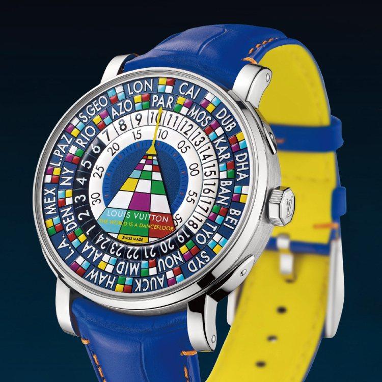 路易威登Escale Worldtimr 世界時間腕錶。 圖/珠寶之星