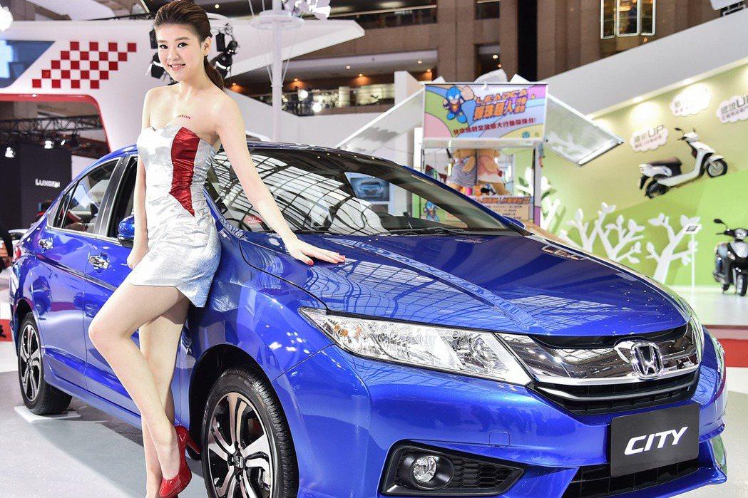 Honda車展發表All New CITY,擁有同級最高6輔助氣囊。 記者林翊民...