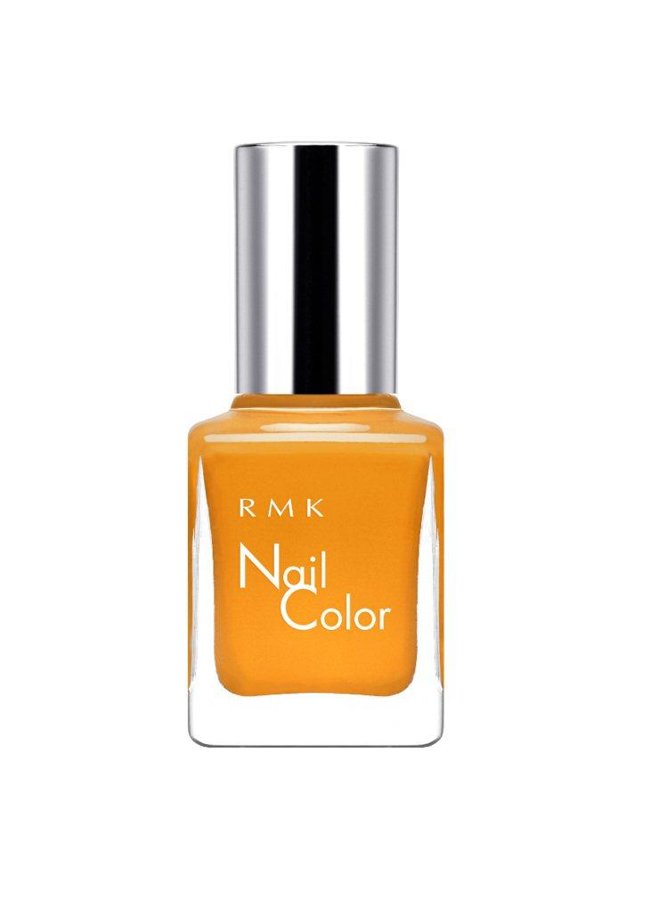 RMK絕色限量指甲油色號赭石黃,售價550元。圖/RMK提供