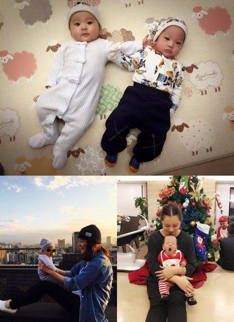 賈靜雯在今年8月產下愛女咘咘,同樣徐若瑄也在8月產下兒子Dalton,剛好徐若瑄趁著聖誕假期回台,兩娃終於可以首次面對面相會了。賈靜雯27日在臉書上PO兩位小萌娃的照片,網友大讚根本是「金童玉女」,...