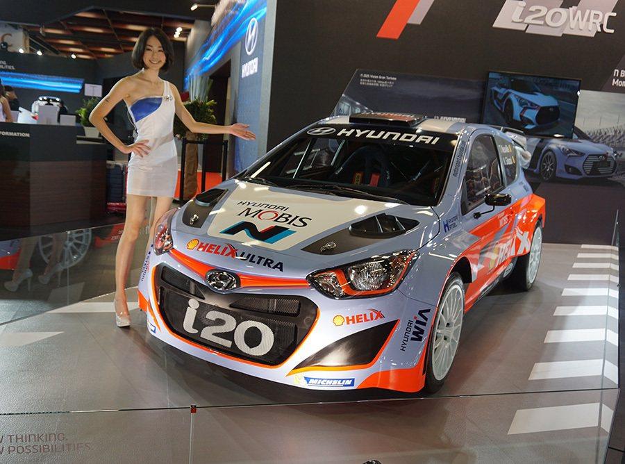 i20 WRC實車登台 記者敖啟恩/攝影