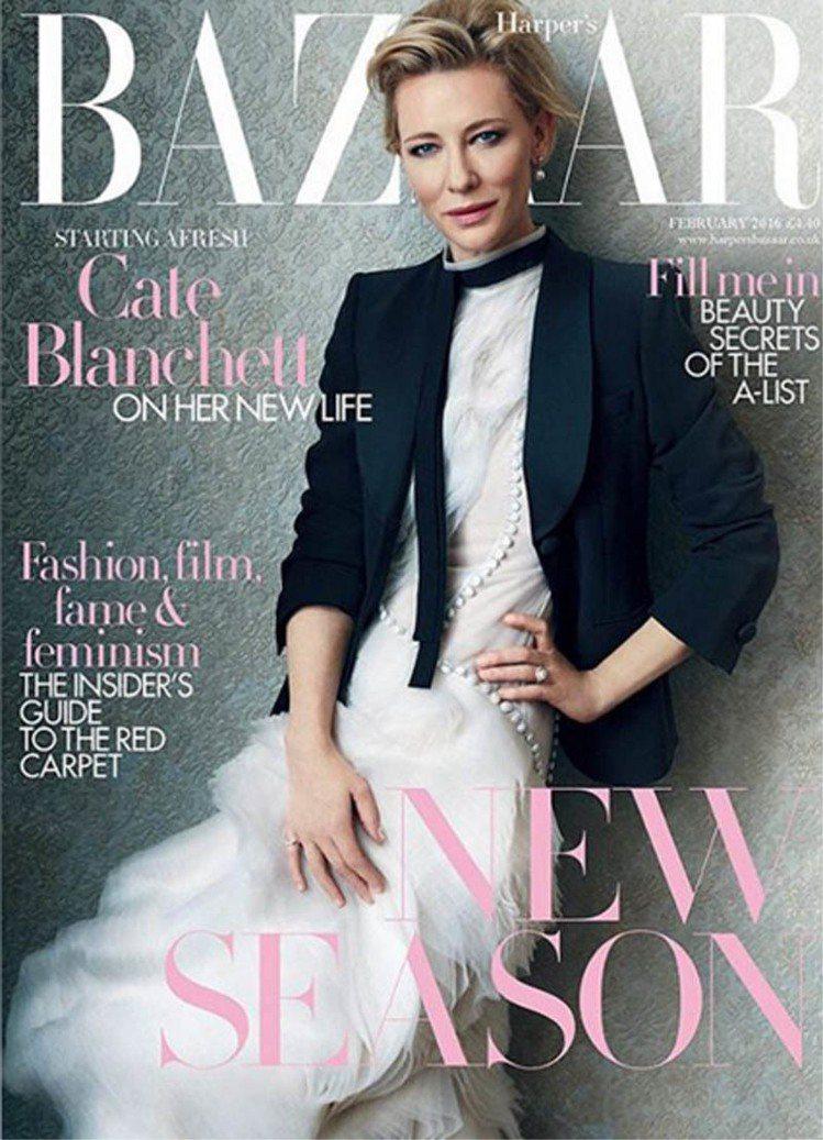 近幾年事業繁忙的女星凱特布蘭琪,推出多部電影作品並憑著《藍色茉莉》拿下第86屆奧...