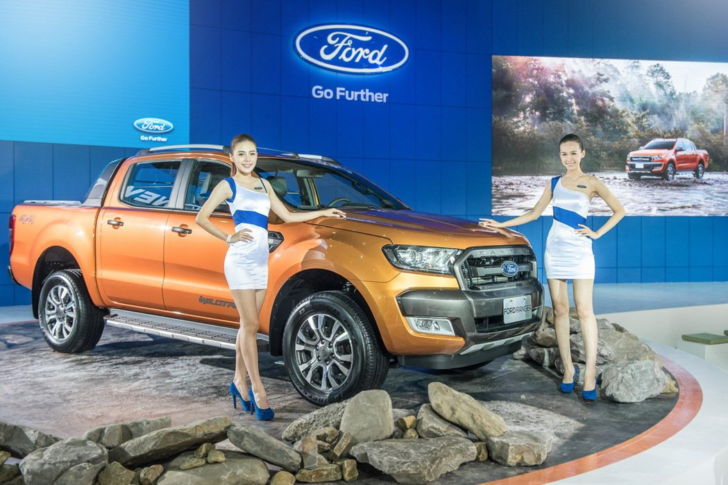 Ford在今年車展無預警展出2015泰國車展首演的小改款Ranger車系。 圖/...