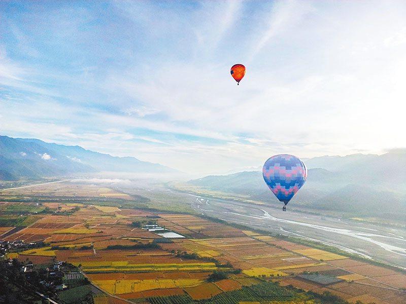 台東的熱氣球體驗。圖/天際航空提供