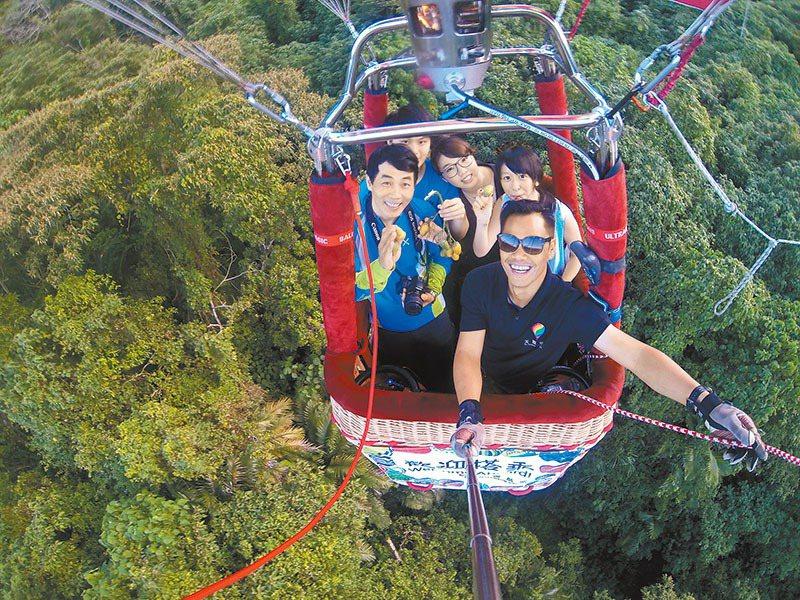 熱氣球體驗兼具冒險及居高臨下欣賞美景。圖/天際航空提供