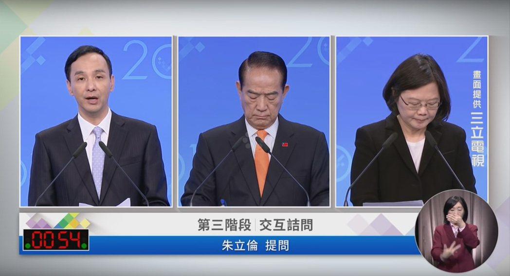 圖/擷自2016總統大選 電視辯論會直播平台