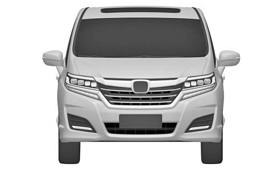 Honda Odyssey七人座 MPV車款專利圖片。 摘自paultan.org