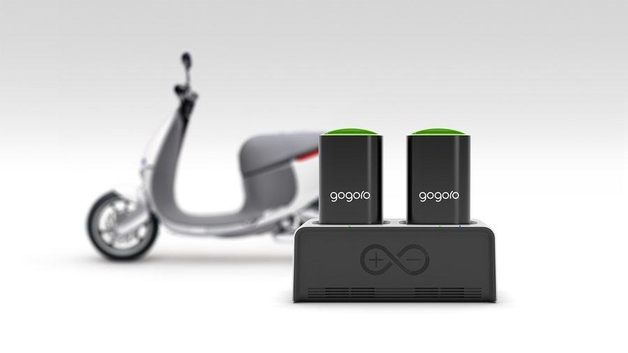 Gogoro GoCharger智慧電池座可讓車主隨時隨地讓自充電再奔馳。 圖/Gogoro提供