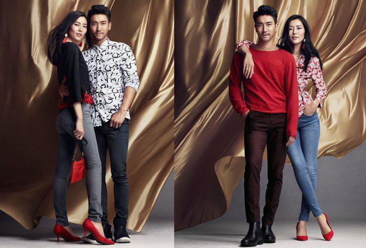 石榴夫婦共同演繹H&M 2016年新春系列。圖/H&M提供
