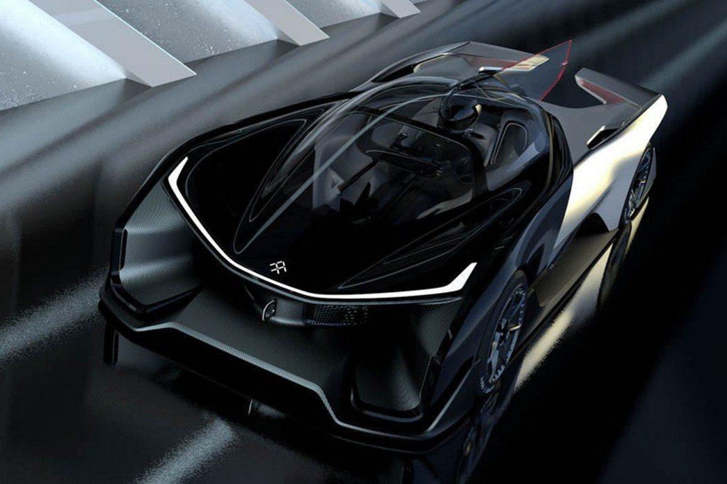 Faraday Future在CES消費電子展上發表首款電動概念跑車─FFZERO1。 摘自Faraday Future