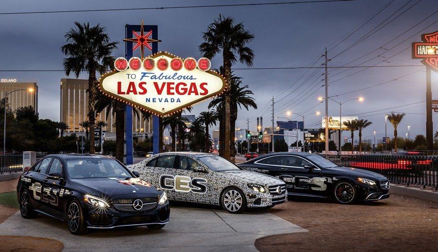 賓士的新E系列於拉斯維加斯CES展亮相。 圖/Mercedes Benz提供