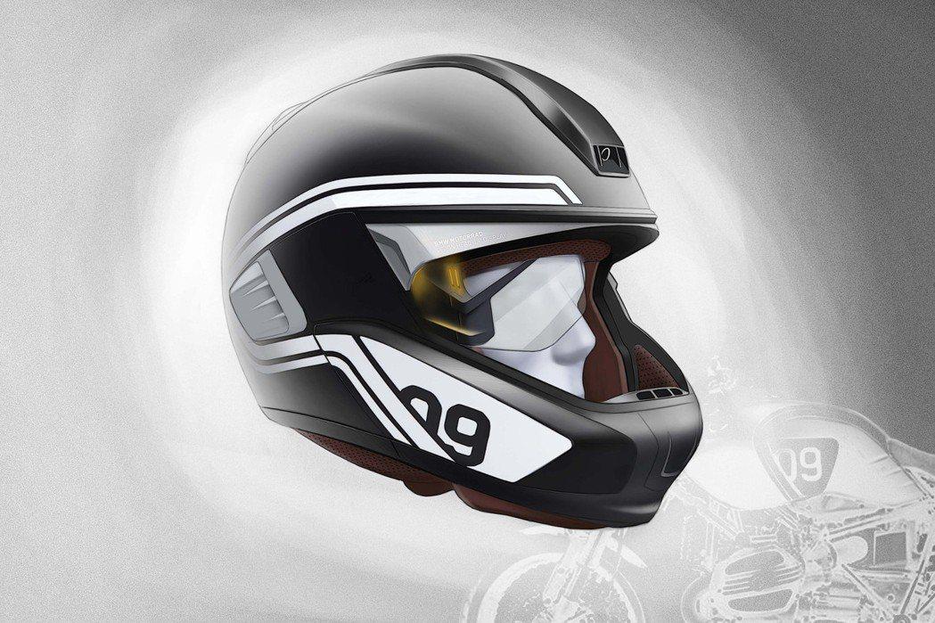 BMW推出一個具備HUD顯示器及前後攝影機的安全帽。 摘自BMW.com