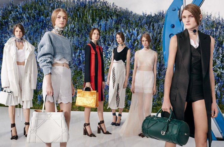 Raf Simons設計的Dior女裝優雅實穿,業績呈兩數位成長。圖/Dior提...