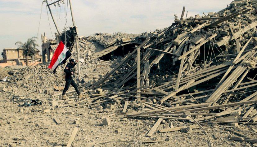 收復拉馬迪的伊拉克軍。 圖/美聯社