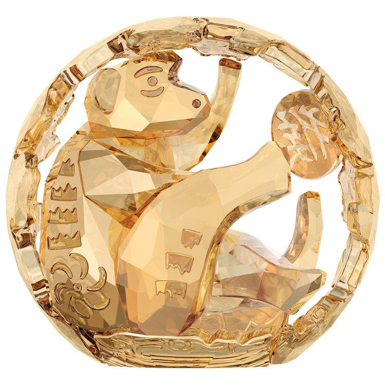施華洛世奇Chinese Zodiac限量猴水晶擺件,12,100元。圖/施華洛...