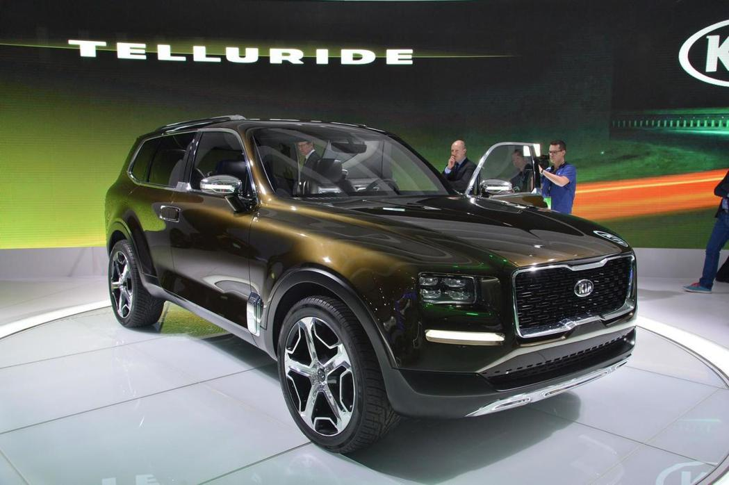 KIA終於揭開Telluride概念車的神秘面紗。 摘自KIA.com