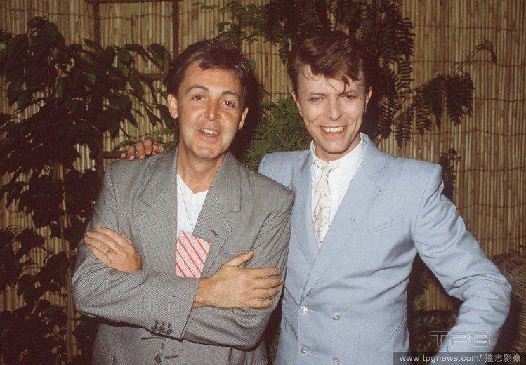 大衛鮑伊與保羅麥卡尼。圖/達志影像