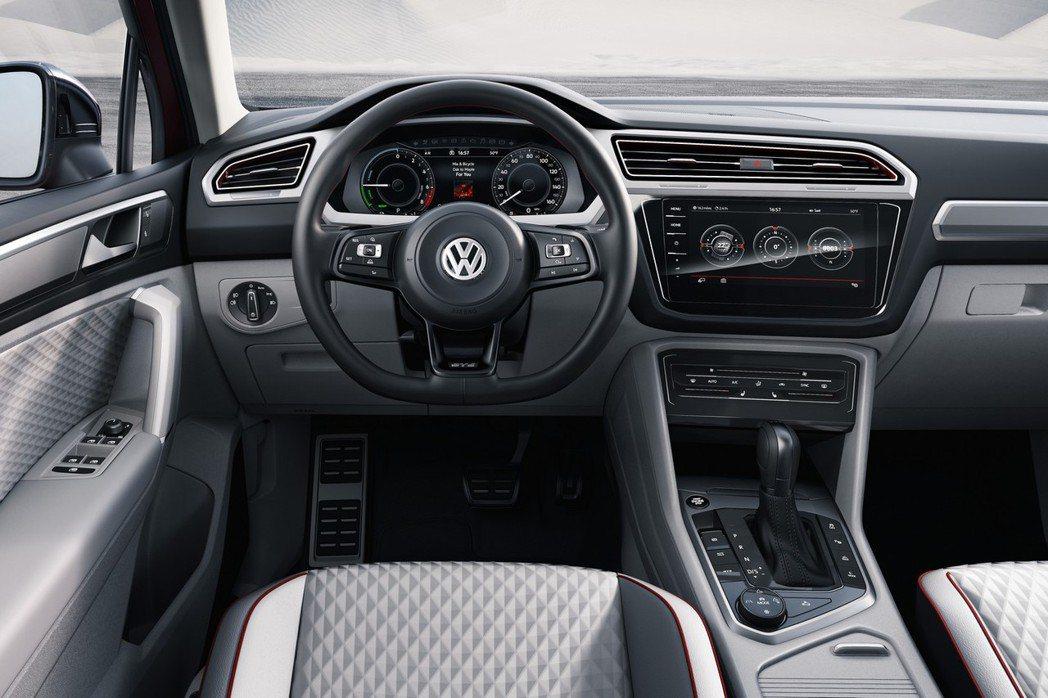 Tiguan GTW Active內裝部分配置MIB多媒體娛樂系統,以及導入9.2吋觸控螢幕。 摘自VW.com