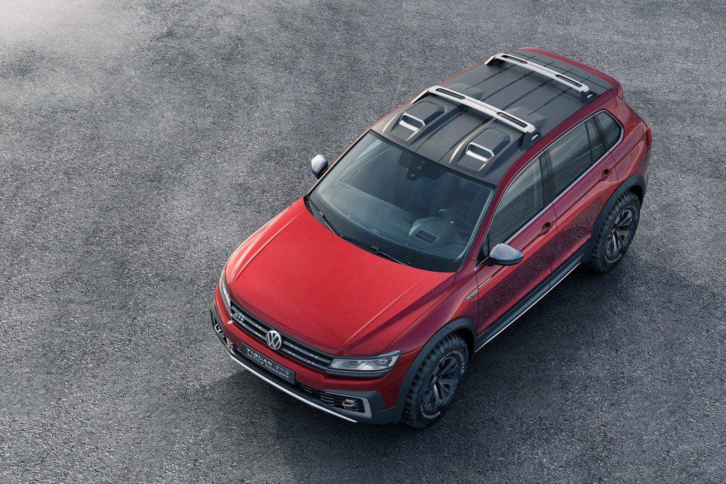福斯於北美底特律車展上亮相全新Plug-in Hybrid插電式油電混和概念車─Tiguan GTW Active。 摘自VW.com