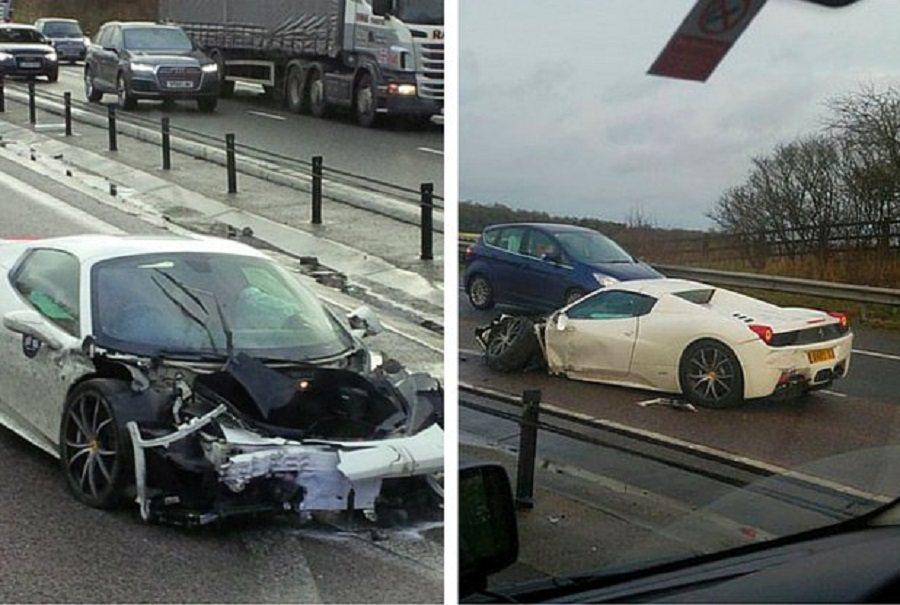 此事故發生在上周,於英國的M11高速公路上失控自撞。 摘自Twitter@EssexChronicle