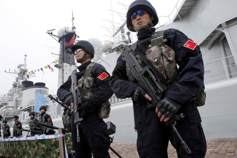 2012年中俄「海上聯合-2012」軍事練習;地點青島。 圖/歐新社