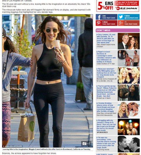 還記得赤裸特工的Maggie Q嗎?模特兒出身的她,2006年就轉往好萊塢發展,還曾與大咖明星湯姆克魯斯、布魯斯威利...等合作過。36歲的Maggie Q身材依舊火辣,日前就有媒體拍到她獨特地打扮...