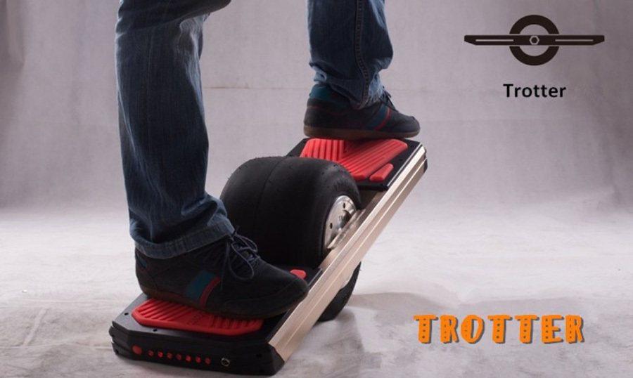 山寨版的Trotter單輪電動板車。 摘自inhabitat.com