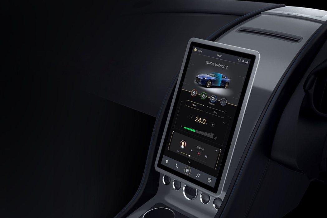 中控台輔以13.3吋數位觸控螢幕,取代繁複的按鍵。 摘自Aston Martin.com