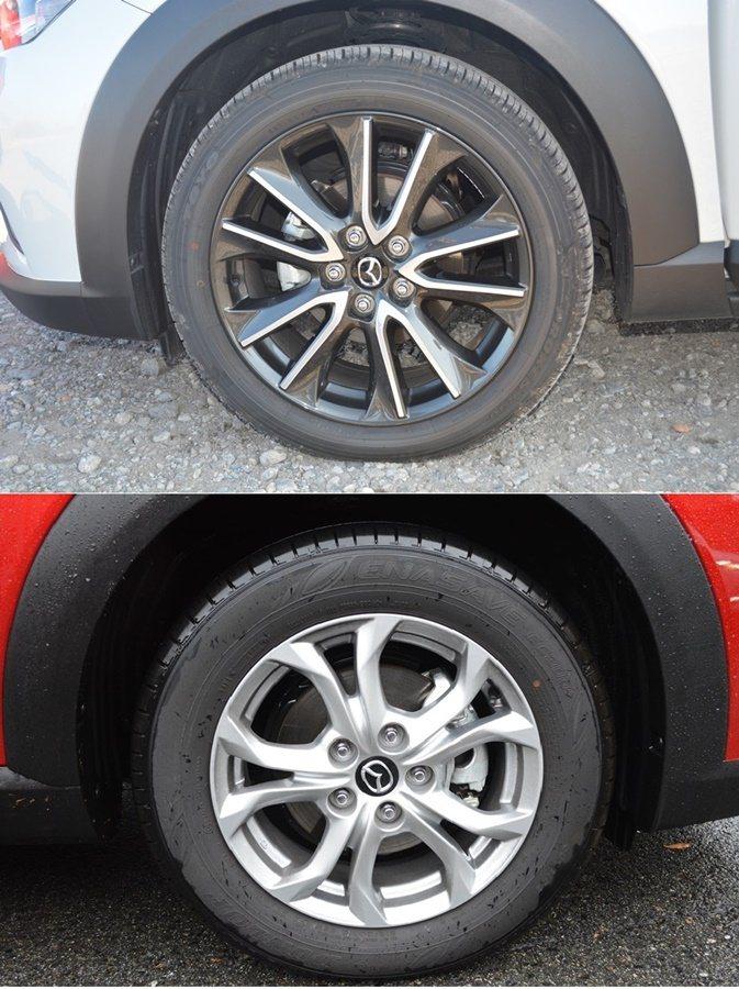 輪圈採18吋配置,共有兩種式樣,我們試乘的頂規車型配的是上圖雙色切削式跑車風格輪...