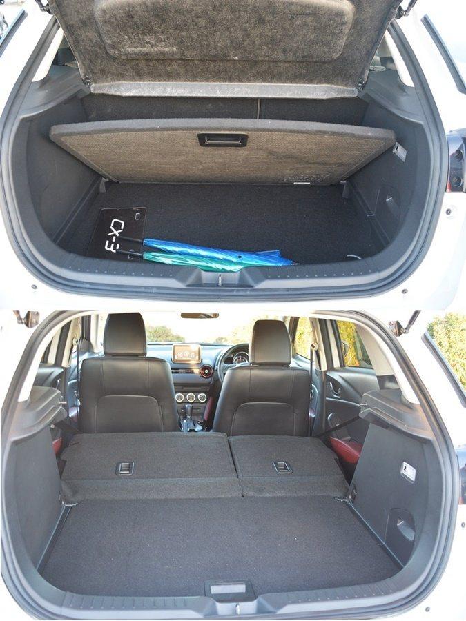 行李廂有雙層式置物功能,底板下還有機能不差,取消備胎,而是個大型置物格,6/4分...