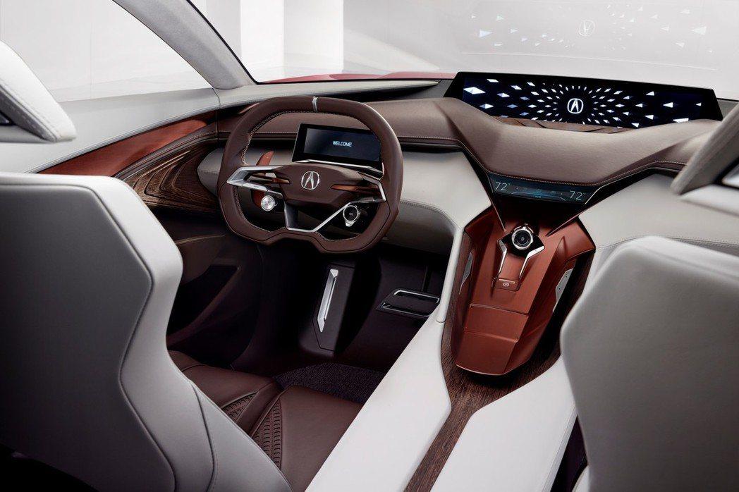Precision概念車內裝也以誇張的線條呈現,並以雙層式設計打造懸浮感。 摘自Acura.com