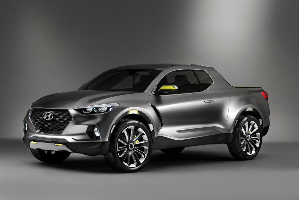 Hyundai Santa Cruz原廠定位為跨界皮卡車型,外型同樣具備誇大的水箱護罩,以及帥氣的頭燈造型。 摘自Hyundai.com