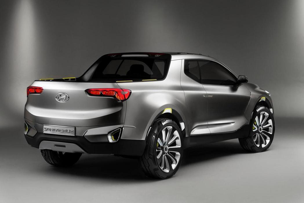 Hyundai Santa Cruz跨界概念皮卡車原廠僅搭載2.0升渦輪增壓柴油引擎,數據部分仍尚未公布。 摘自Hyundai.com