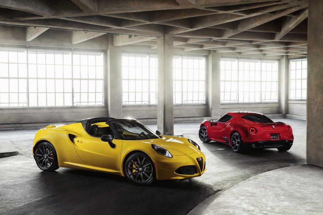 Alfa Romeo推出了2016年式4C與4C Spider敞篷版本。 摘自Alfa Romeo.com