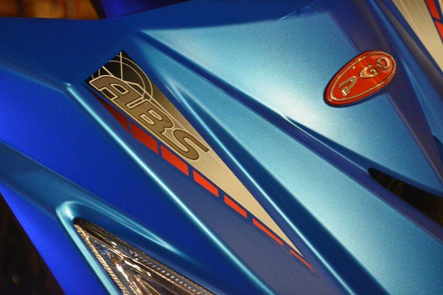 BON 125 ABS車頭ABS銘牌。