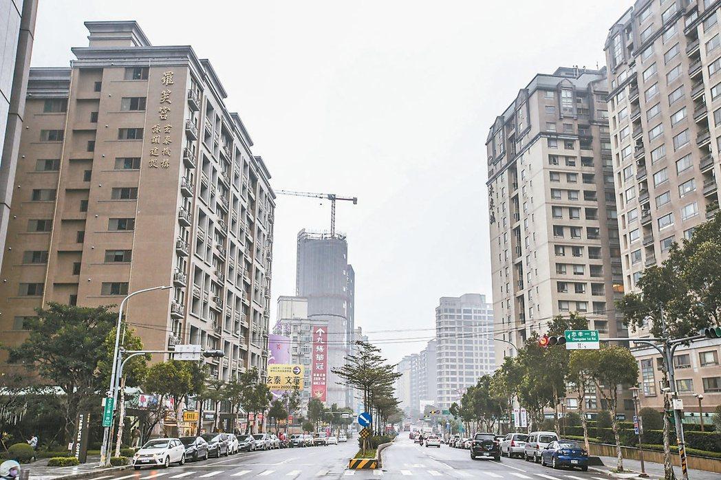 林口文化三路街景。 記者楊萬雲/攝影