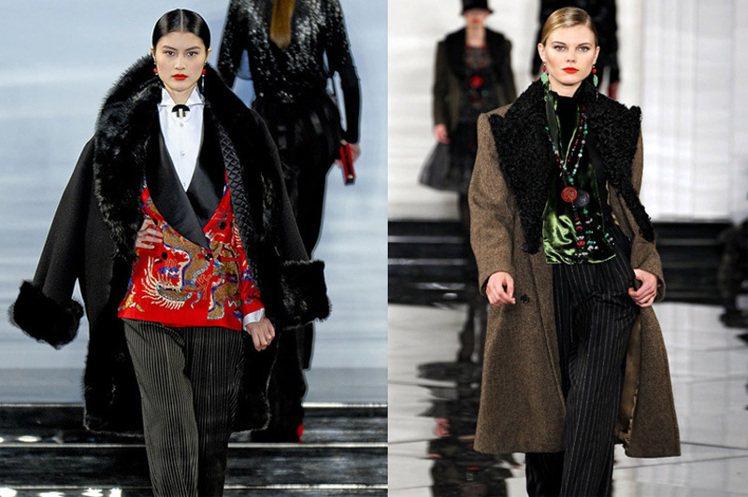 Ralph Lauren 2011 秋冬利用皮草、龍紋刺繡、玉飾等元素打造中國大...