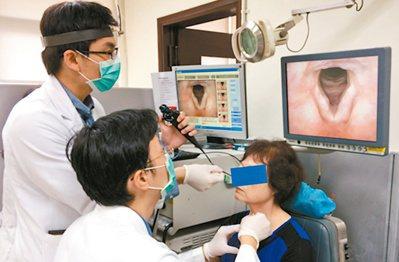 門診聲帶注射術可替聲帶長繭患者找回好嗓音。 圖/台北榮總提供