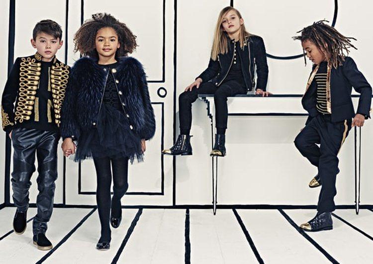 Balmain 準備在6月正式推出一系列霸氣時髦的童裝。圖/擷自usmagazi...