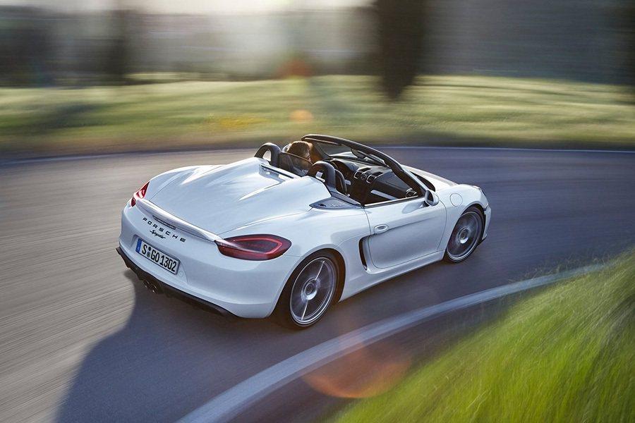 Porsche Boxter Spyder敞篷跑車。 Porsche提供