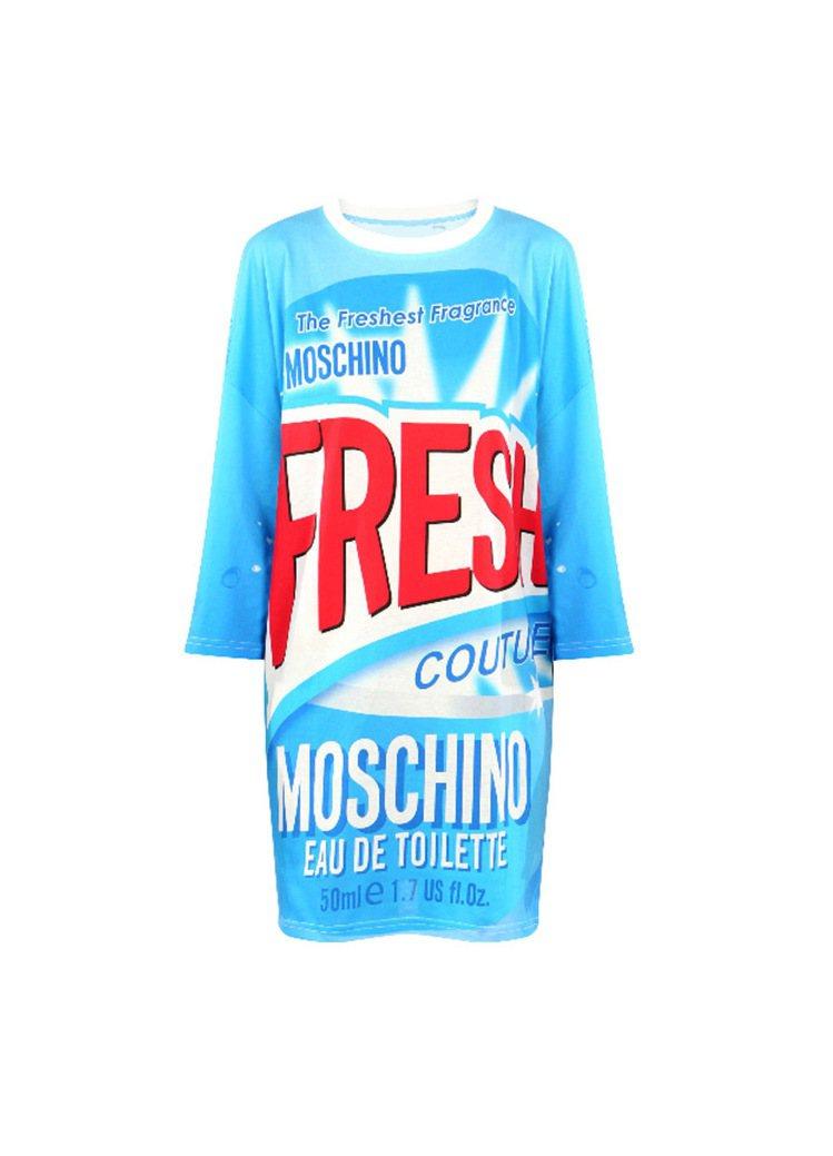MOSCHINO清潔劑圖騰長版T恤,售價13,800元。圖/MOSCHINO提供