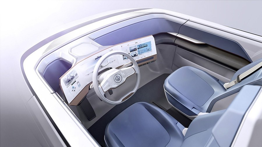 前艙配置12.3吋曲面螢幕附Active Info Display主動式顯示技術。 Volkswagen提供