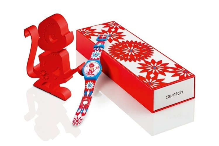 Swatch今年推出好運猴特別表款,價格2,500元。圖/Swatch提供