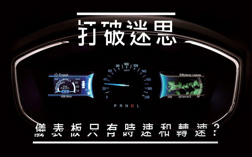 迷思四:儀錶板只顯示時速和轉速? 圖/福特六和提供