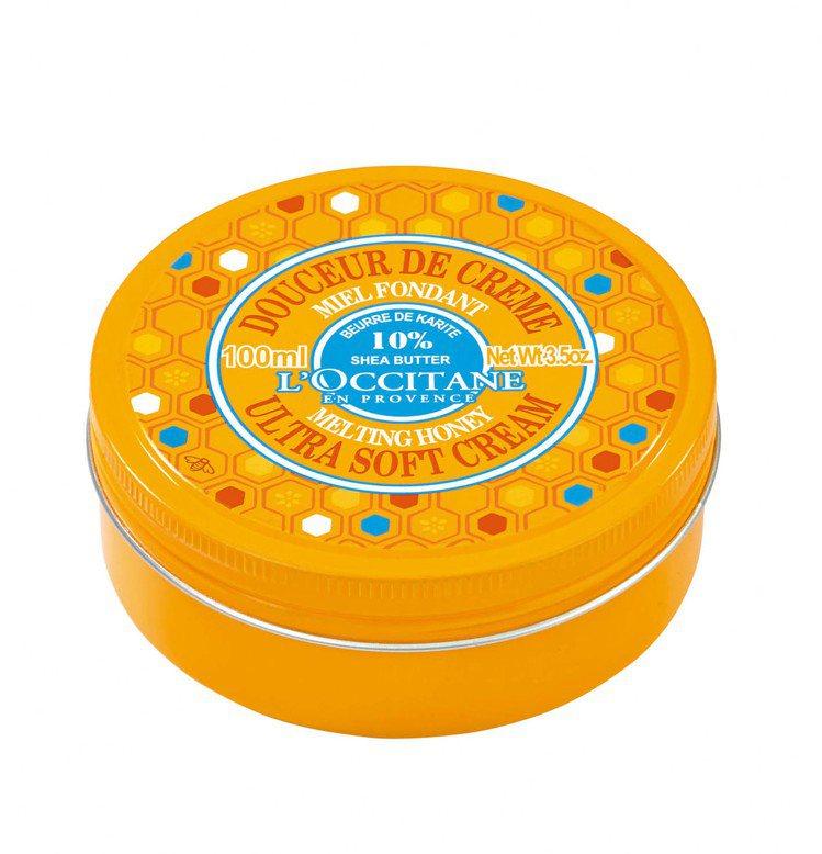 歐舒丹乳油木蜂蜜輕柔潤膚霜,100ml /1,180元。圖/歐舒丹提供