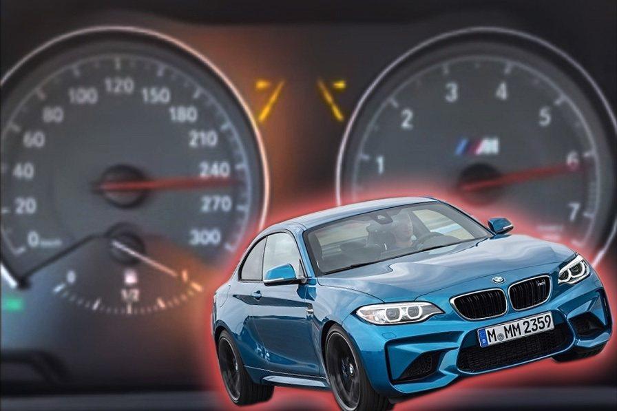 一名車主將BMW M2的極速表現影片PO上論壇。 截自BimmerPost影片
